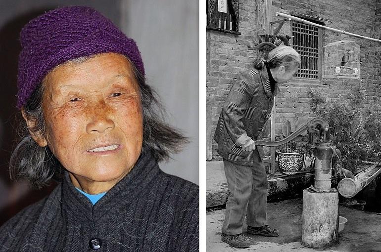 Bäuerin in Guilin