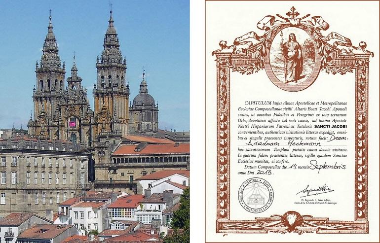 Die Pilgerurkunde Compostela