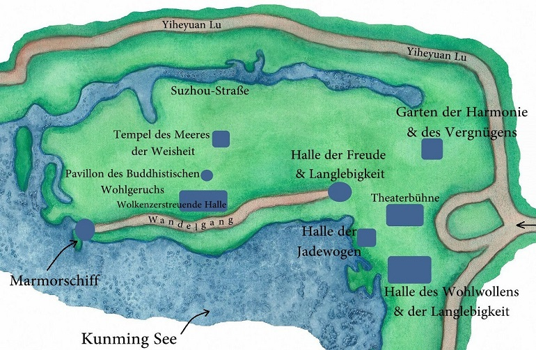 Sommerpalast Karte