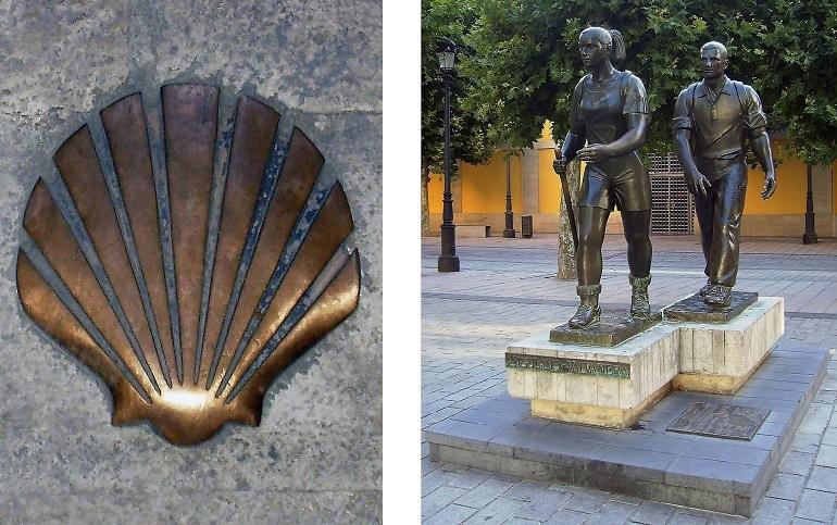 Pilgerstatue auf dem Jakobsweg