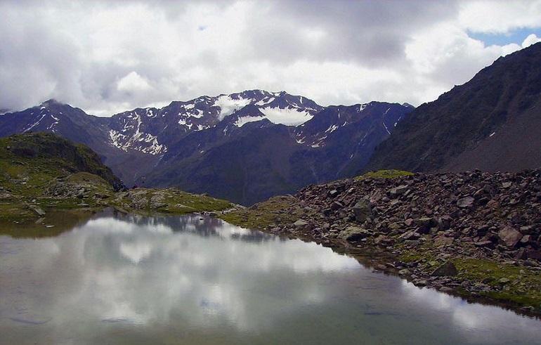 Weißkarsee auf dem Fernwanderweg E5