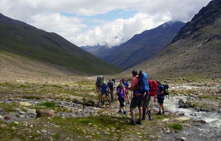 Aufstieg zur Similaunhütte