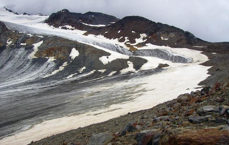 Gletscher kurz vor der Similaunhütte
