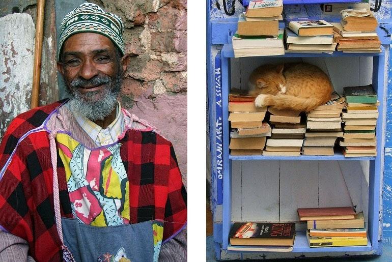 Marokko Mann mit Katze