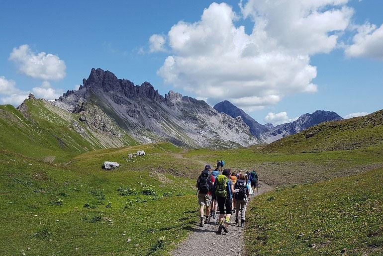 Weg zur Kemptner Hütte