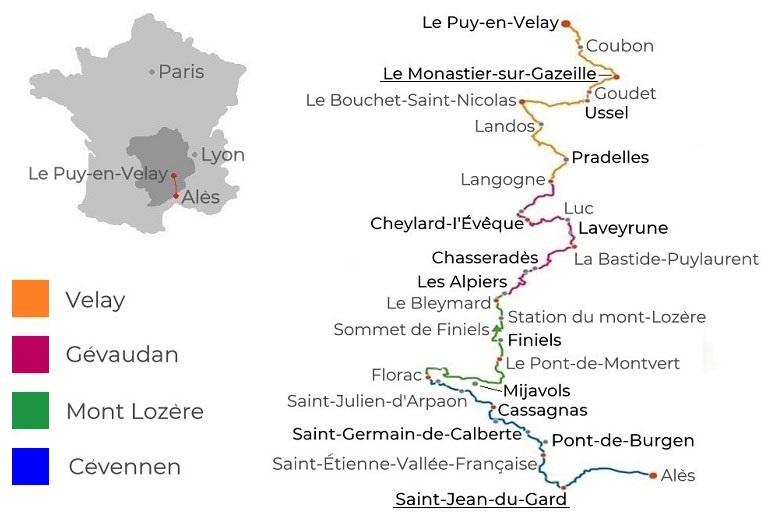 Karte Stevensonweg