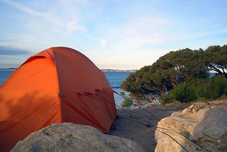 Wildcampen am Meer