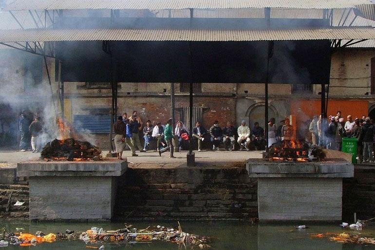 Verbrennungsplatz in Pashupatinath