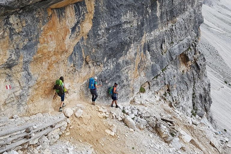 Abstieg zum Lago Lagazuoi