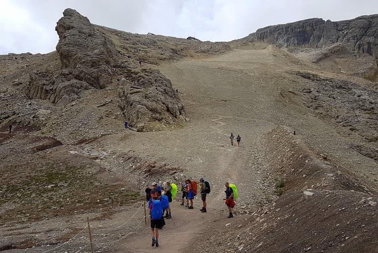 Aufstieg zum Rifugio Lagazuoi