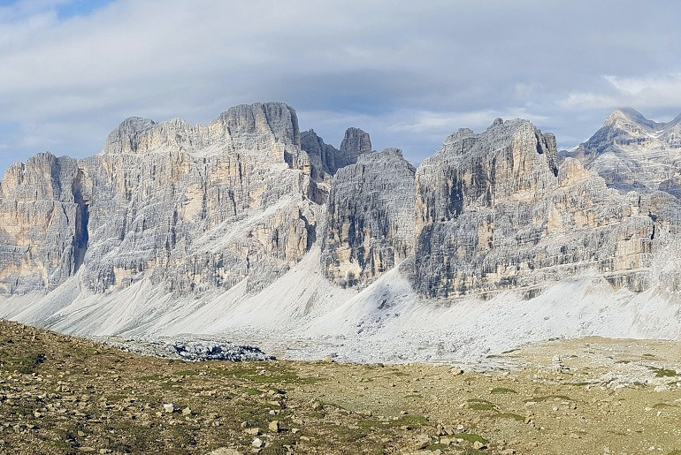 Ausblick vom Gipfel des Kleinen Lagazuoi