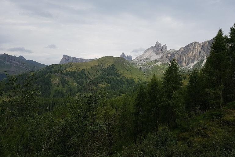 Auf dem Weg zum Rifugio Coldài