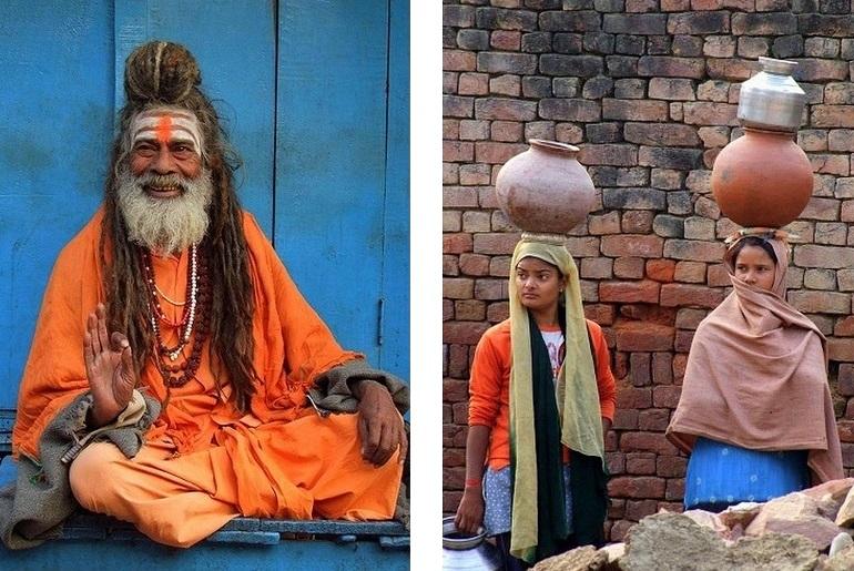 Varanasi und Bharatpur